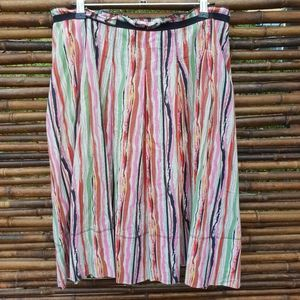 Kookai Colourful Midi Skirt Size 12